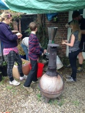 Tess, Marc, Jacob, Charlotte and Chris. But most important of all, the chimenea keeping spirits high