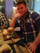 A trio of burgers...and why not after a hard weekends work