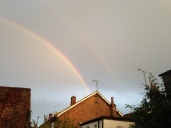 ...and to cap off the weekend, a double rainbow